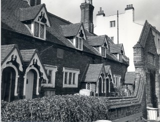 The Alms Houses. A more recent photograph