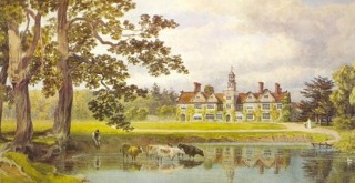 Rothamsted Manor - from a watercolour by Lady Caroline Lawes, wife of Sir John Bennet Lawes, the station's founder