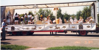 Hitchin Carnival float - Cleopatra - won 1st prize