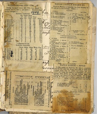 A page from Arthur Kingsbury's impromptu scrap-book. | Cled Fursland