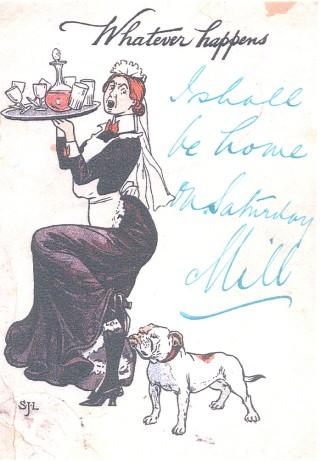 A postcard sent in 1905,