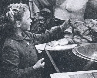 A young girl enjoying the Fair