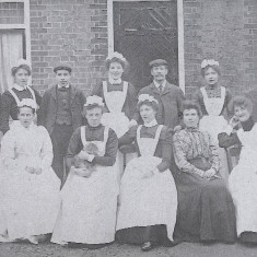 Servants at Lilley Rectory, 1890's | Hertfordshire Archives and Local Studies, Lilley Picture Book