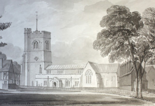 South view of the church at Harpenden [Clutterbuck Vol 4 p411] | Hertfordshire archive and local studies