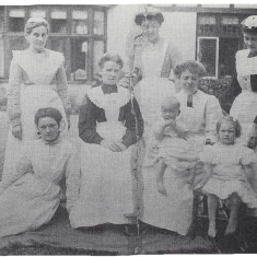 Staff at Layston Court, 1890 | Hertfordshire Archives and Local Studies, Buntingford Past in Pictures