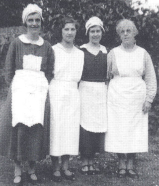 Staff at Morley Hall, Wareside, 1930s | Wareside: A Miscellaney