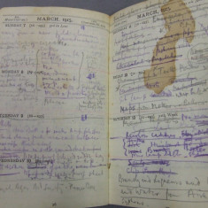 Stained page of the diary