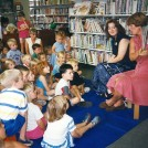 Glynis and Hazel lead a Story Time in 1994
