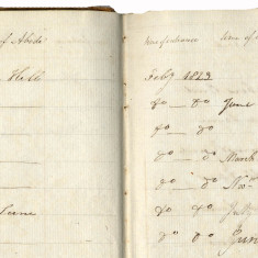Methodist Sunday School book, Ware, 1830s: reasons for leaving: most of the reasons are