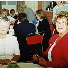 'Bunny' Taylor (left)  and Geraldine Blain.   Geoff Webb