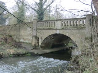 Bridge over the River Beane, adjacent to Watton Nursery - after heavy rain. | Terry Askew