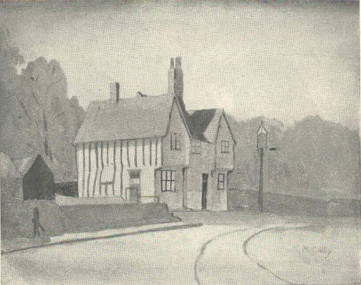 The Bucks Head, Little Wymondley. This sketch does not appear in the book but is taken from a greeting card. I am indebted to Hugh Madgin for identifying the pub. | Miss Mabel Culley