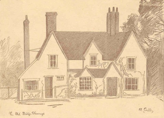 The Old Bury - this is an alternative drawing that does not appear in the book but is taken from a greeting card. | Miss Mabel Culley