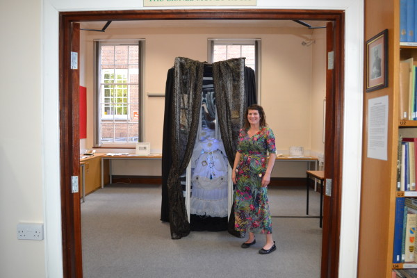 Jojo Taylor with her installation 'Finders, Keepers Protectors and Seekers'   HALS