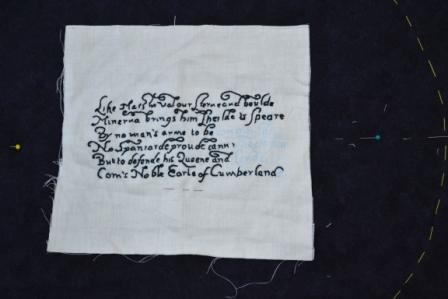 Sue's embroidered poem