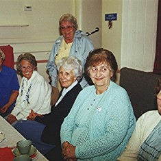 Left to right: Ruth Tingey, Muriel Draper, Ruth Peacock (rear), Stella Coote, Mildred and Joan Peck. | Geoff Webb