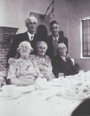 The Tingeys celebrate their Diamond Wedding anniversary with sons Arthur (left) and Ernest, and daughter Edith (centre). | Geoff Webb