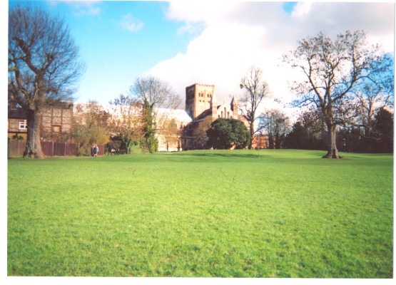 St Albans Abbey in the distance | Resident of Open Door, St Albans