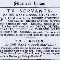 An Advert from the Herts and Essex Observer, 1890 | Hertfordshire Archives and Local Studies, Ref: D/EHe C18