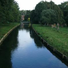 Looking upstream from Churchfields, Broxbourne | Nicholas Blatchley