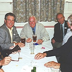 Left to right: Alan Waller, George Braddon, James 'Jippy' O'Hara, Peter Reading, Gordon Field, Dennis Reading and Ronnie Hales | Geoff Webb