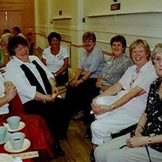 Left to right: Daphne Waller, Jennifer Hawkins, Fay Campbell, Jackie Hawkins, Carol Richardson, Diane Sharp, Jennifer Woodstock. | Geoff Webb