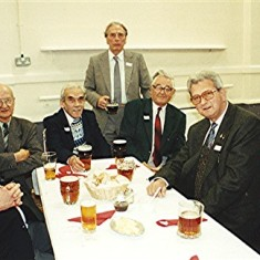 Left to right: Don Males, Jack Waller, Bob Crawley, Alan Clark, Les Smith, Ron Dunham, Dick Dalton. | Geoff Webb