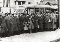 Cheshunt Football Team off to a match