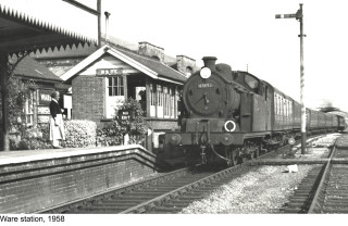 Ware railway station in 1958 | Hertfordshire Archives and Local Studies