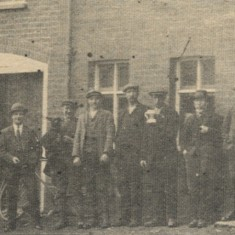 This picture was taken outside the Waterford Arms at Waterford at the time of King George V's Silver Jubilee in 1935. On the extreme right is Mr Walter Wrangles, whose daughter, Mrs Sutterby, of Church Street, Hatfield, sent [the Herts Mercury] the photograph. Also in the group are 'Grandfather' Edwards, 'Jobie' Edwards, Bill Andrews and the publican, Sid Wells | Hertfordshire Archives & Local Studies (photo: Herts Mercury)