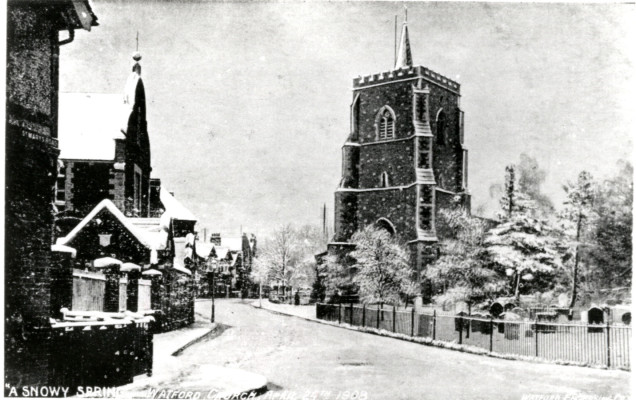 St Mary's Church, Watford, 1908 | Hertfordshire Archives & Local Studies
