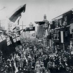 Queen Victoria's Diamond Jubilee celebrations, 1897, High Street, Watford | Hertfordshire Archives & Local Studies (photo: Albert Warren)