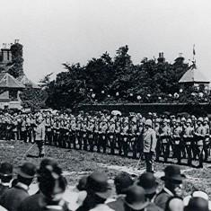 Watford Volunteers, Queen Victoria's Golden Jubilee, 1887, Cross Roads Corner | Hertfordshire Archives & Local Studies