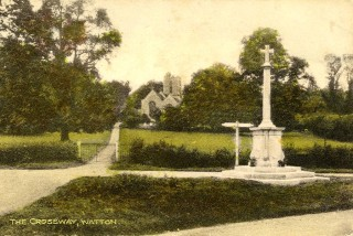 The War Memorial before relocation | Hertfordshire Archives and Local Studies
