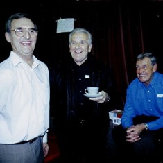 Left to right: Geoff Webb, Graham Field, Peter 'Podger' Fox.   Geoff Webb