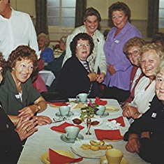 Ladies, left to right: Pam Hawkins, Sheila and Edna Game, Brenda Ventham, Thelma Coleman, Margaret Webb, Annie and Edna Fensom. | Geoff Webb