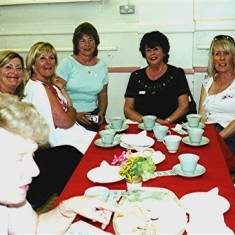 Left to right: Margaret Webb (front), Jackie and Christine King, Jennifer Brett, Sheila Hales, Christine Coote, Sally King. | Geoff Webb