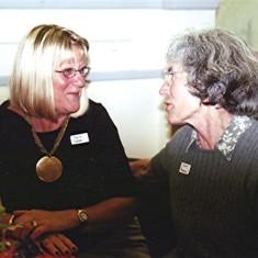 Judith Webb (left) and Edna Peacock. | Geoff Webb