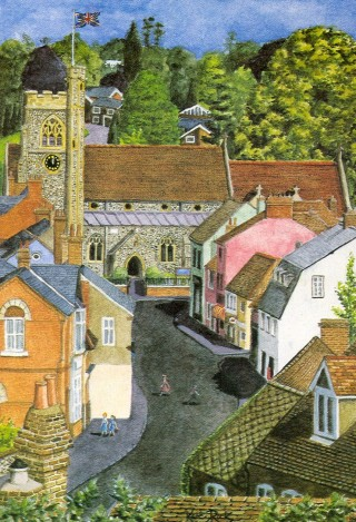 'Welwyn Village' by Kate Rook | d'Artprint, Welwyn Garden City