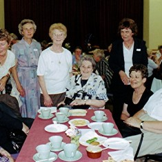 Left to right: Barbara Wheatfill, Mary Axtell, Norma French, Brenda Ventham, Pam and Evelyn Hawkins, Ann Flitton. | Geoff Webb