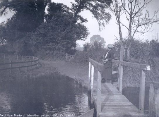 Ford Near Marford, Wheathampstead, 23 October 1918