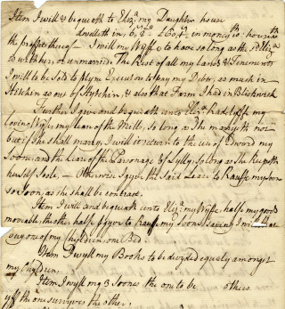 Extract from the will of Ralph Radcliffe | Hertfordshire Archives and Local Studies, Reference DE/R F2