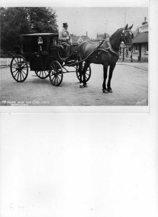 William Hogg and his horsedrawn cab