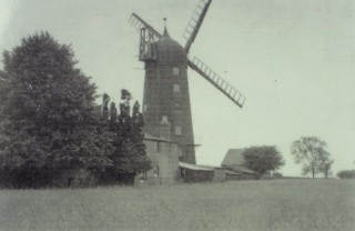 The Windmill, with the millers house on the right, 1910