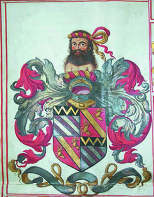 Wittewronge Coat of Arms [DE/Lw/F14; Z21] | Hertfordshire Archives and Local Studies