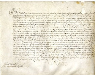 Sir John Wittewronge's Army commission | Hertfordshire Archives and Local Studies