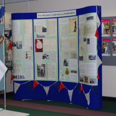 The exhibition on the Women's Land Army in Hertfordshire