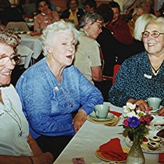 Left to right: Beryl Woodstock, Delia and Lilian Robertson. | Geoff Webb