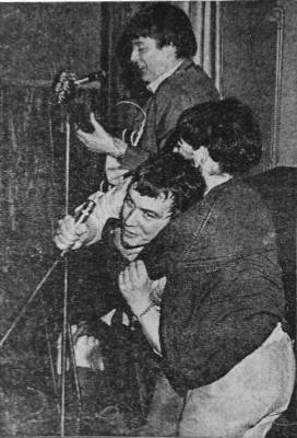 The Animals Eric Burdon & Chas Chandler on stage at the Beat Scene Club