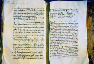 Manor of Kingsbury Court Book, 1240-1331 (XDOA) | Herts Archives & Local Studies